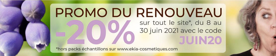-20% sur tout le site ekia-cosmetiques